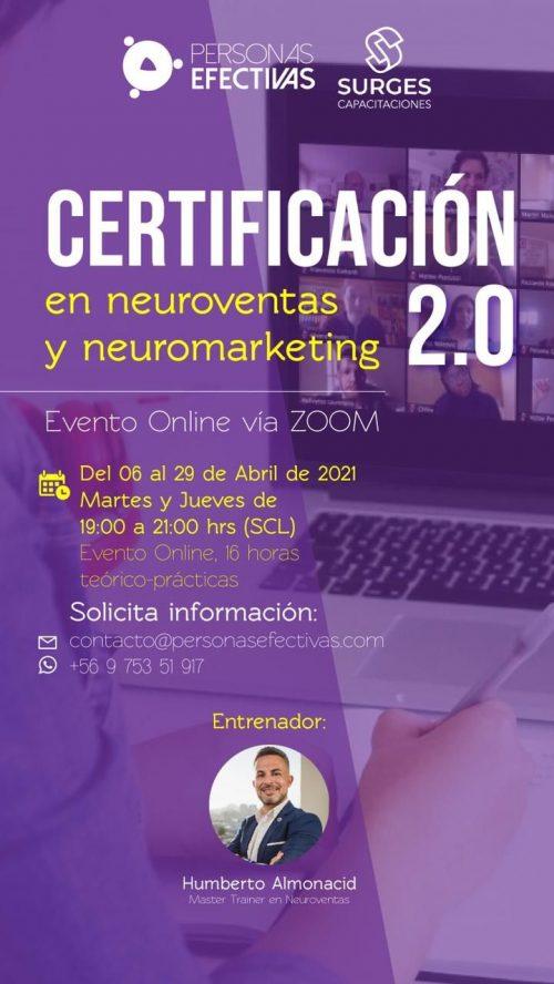 Certificación Neuroventas y Neuromarketing 2.0